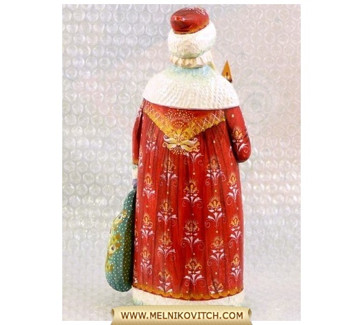 Father Frost - The Russian Santa Claus - wooden Christmas figurine
