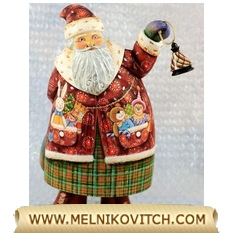Santa Claus wooden Christmas gifts