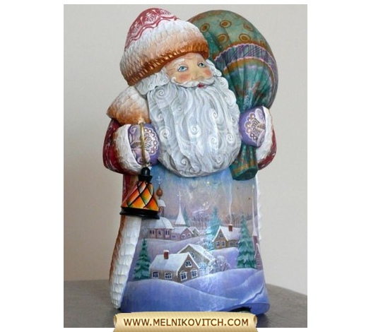 Santa Claus figurine a character of Christmas tales