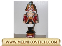 Wooden nutcracker Hussar Dolomanov a Russian Christmas tree gift