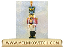 Russian Nutcracker Souvenir - wooden artwork figure