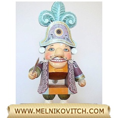 Wooden Nutcracker pirate a wooden figure based on