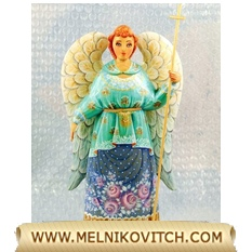 Figurine guardian angel with a cross