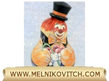 Wooden Roly Poly Clown (Tilting Doll)