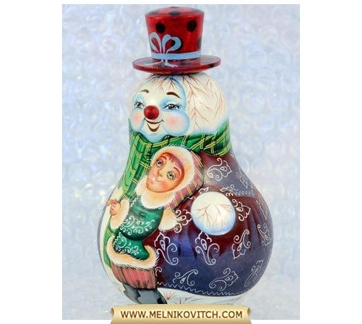 Tumbler toy (wobbly man) : Snowman with little boy