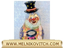Clown-magician figurine as Tilting Doll
