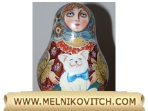 Russian Roly Poly as Matryoshka doll, a typical Russian souvenir