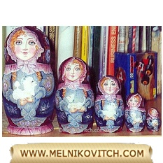Nesting Doll (Matryoshka doll) for dog owner