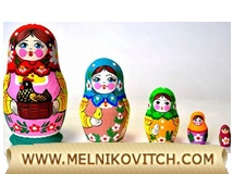 5 pcs Matryoshka (stacking) dolls with Chicken in a basket