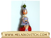 Christmas tree theme «girl sitting on a strawberry»