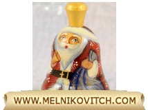 Christmas Bell: Santa Claus as wooden bell