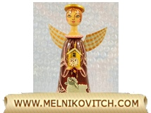 Christmas season Angel with clock - Christmas tree decoration