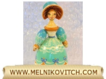 Clara Stahlbaum doll a nutcracker figurine as Christmas decoration