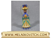 Magician Magus as wooden Christmas figurine