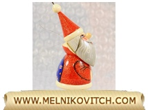 Santa Claus figurine as wooden Christmas season gift