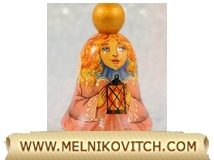 Christmas Bell Fairy, wooden bell