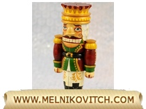 The Nutcracker as Christmas tree toy figurine
