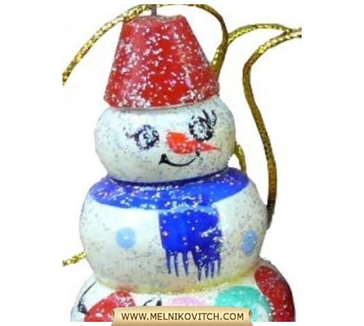 Wooden Snowman as Christmas decoration for Art Retailers