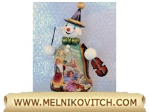 Snowman figurines with a violin as Christmas gift