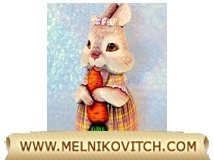 Wooden gifts: Girl Rabbit with carrot
