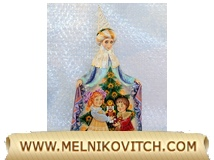 A wooden toy: Fairy Queen figurine - carved by hand, and rich pained by hand