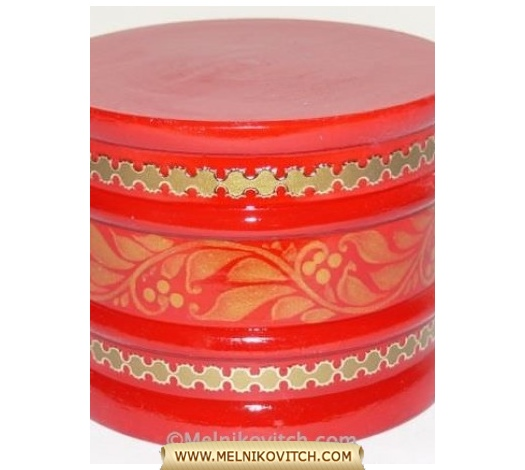 Wooden Music Box (red) with various well-known melodies like